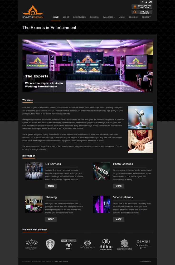 Wordpress site for Soul Asia Roadshow, DJs. A dark site which showcases the photography and videos perfectly. http://www.soulasiaroadshow.co.uk/