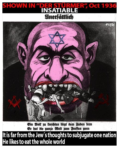 """Der Stürmer: Caricatures from """"Der Stürmer"""" - translated in English and colourized!"""