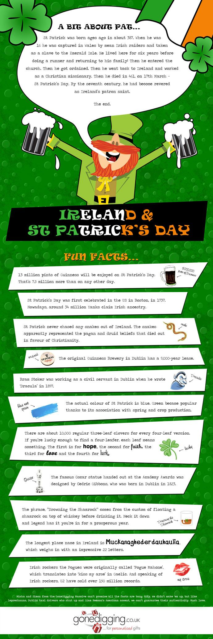 #Ireland and St. Patrick's Day #Patrick