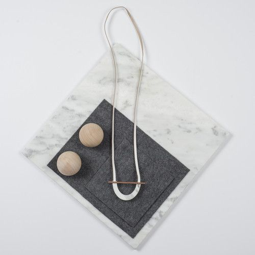 Rill Rill Necklace No 7 White Marble | nana & bird - Only Curating What We Love