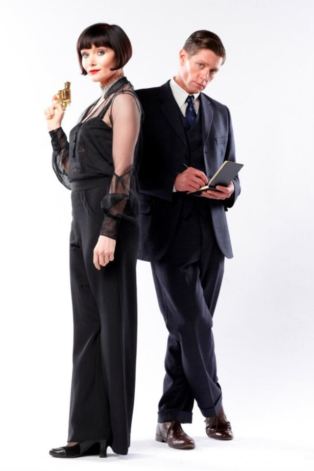 """Essie Davis (and Nathan Page) in """"Miss Fisher's Murder Mysteries"""""""