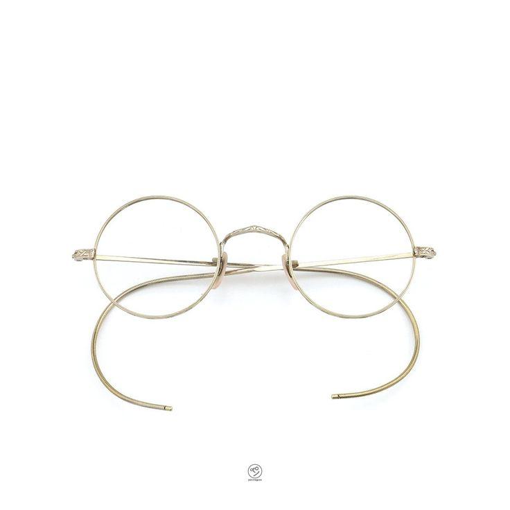 [Vintage] 1/10 12KGF round GOLD | PonMegane