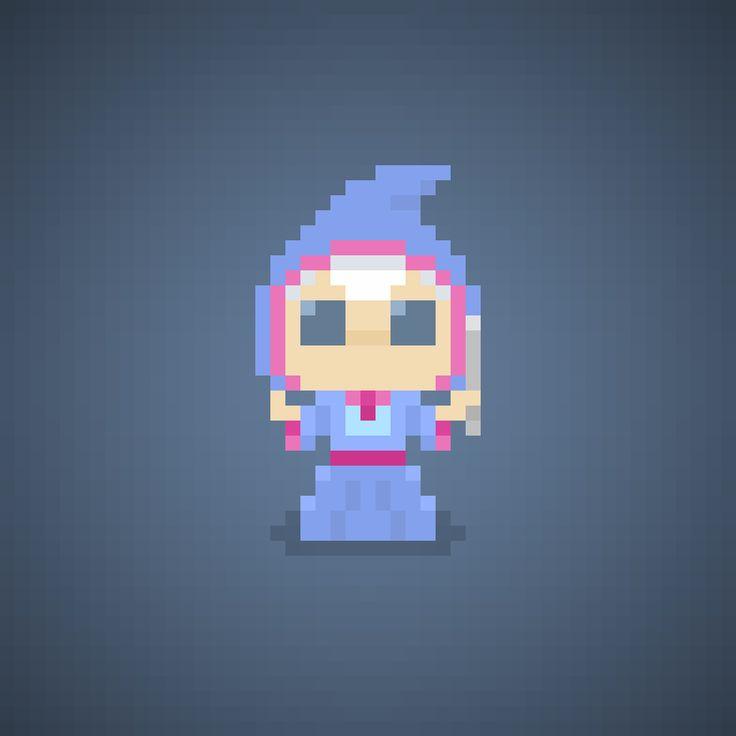 Famous Characters in Pixel Art The Fairy Godmother from Cinderella #thefairygodmother #fairygodmother #fairy #godmother #fatamadrina #fata #fate #disneyprincess #principessa #principesse #disney #waltdisney #broom #pixelart #pixel #16bit #theoluk