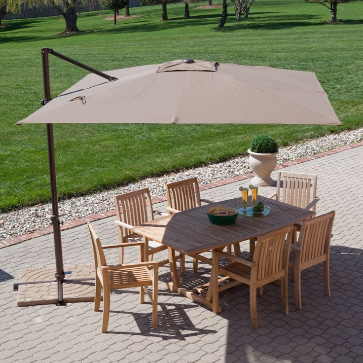 Coral Coast 8.5-ft. Square Offset Patio Umbrella - Stylish, functional and full of great features, the Treasure Garden 8.5-ft. Square Offset Patio Umbrella is a Hayneedle exclusive. Not only can you on...