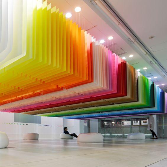 Les 25 meilleures id es de la cat gorie rideaux de plafond - Tringle rideau mur a mur ...