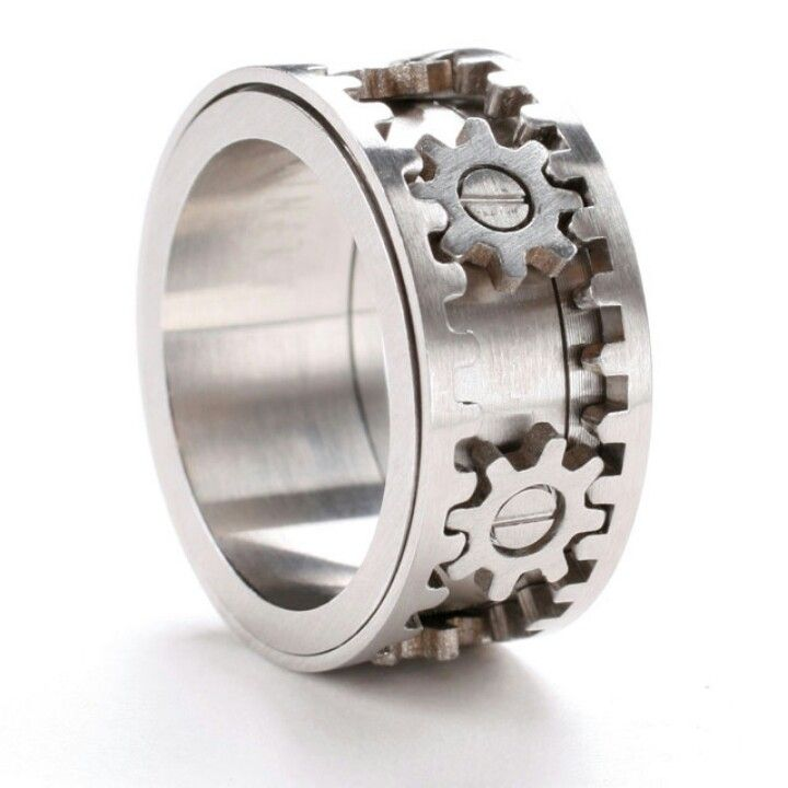 (Steampunk Accessories) Gear Ring (ring turns and gears work) --I LOVE THIS!! This WILL be his ring--