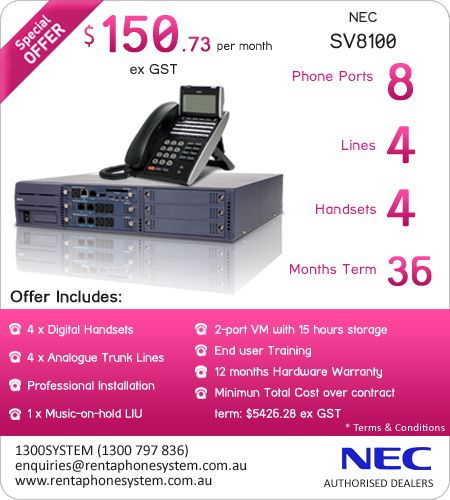 Rent a Phone Systems delivers a wide range of top-of-the-line digital phone systems that are are highly customizable for different organizations and industries. Brands such as Avaya, NEC and Panasonic partner with us to providethe best telephone and communications systems providers for small and medium enterprises.