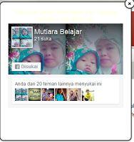 Mutiara Marwah: Cara Menambahkan Fanspage Melayang Di blog
