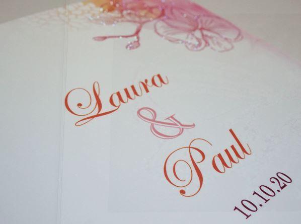 """Onze stijlvolle kaart """"Orchideeënaquarel """" volledig op trend! Bekijk hem hier: http://www.planet-cards.nl/huwelijk-uitnodigingen-orchideeenaquarel.html"""