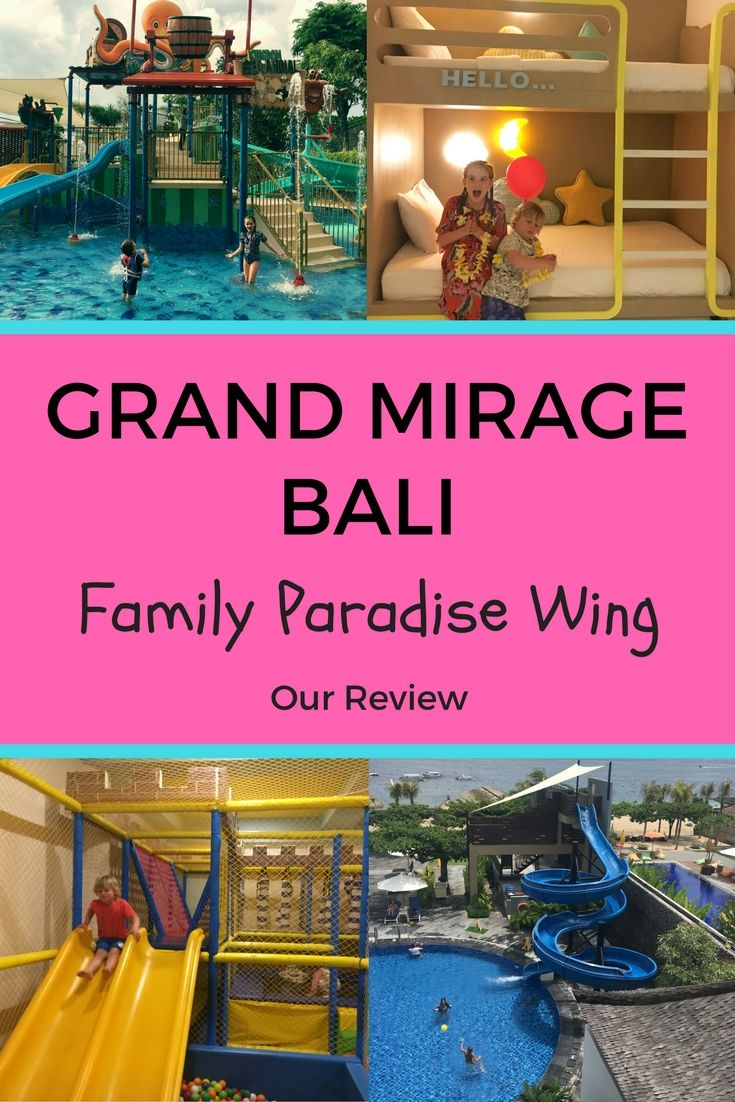 Our review of our stay at the Grand Mirage Resort Bali in the Family Paradise Wing. Detailed photos of our room, kids facilities and if this resort is right for your family