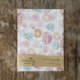 Multi coloured blossom wrapping paper 100% recycled Hand-painted, watercolour florals Uncoated and matte sheets #giftwrap #wrappingpaper #craft #paper #watercolour #florals