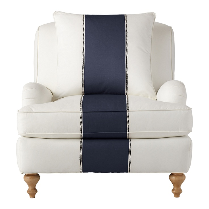 Navy Racing Stripe - YES! #navy #chair