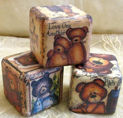 Кубики винтажные