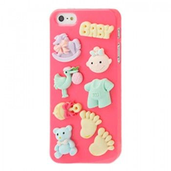 More at: http://www.coolcasing.com/ iPhone 5 & 5S Case: Cartoon Pattern Case for iPhone 5 & 5s - Magenta