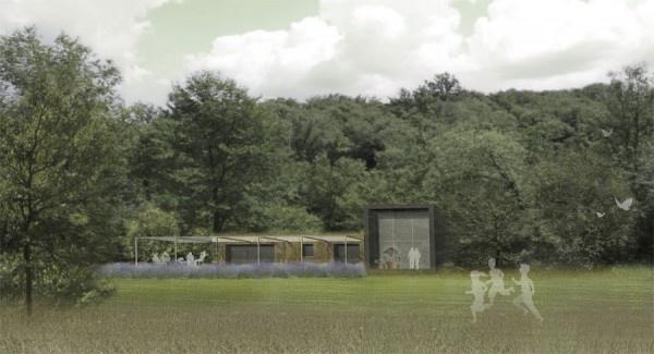 la casa in canapa aldo cibic realizzata con i materiali Equilibrium