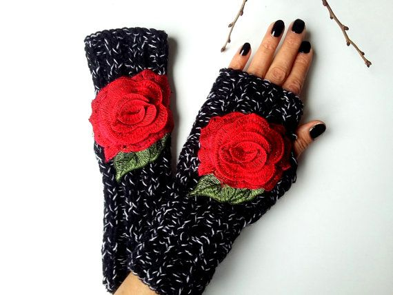 Womens Mittens Gloves, Womens Knitted Gloves, Crochet Gloves Women, Hand Knitted Gloves, Black Knitted Gloves, Fingerless Gloves   100% Quality. Black and White, Acrylic Yarn. Mixed color. It was made of apples and roses. Soft, comfortable gloves. It was built gracefully. Style gloves. It keeps you warm in the winter. Used as an accessory. Relatives are friends of my brother. Gift can be an alternative.  MAINTENANCE INSTRUCTIONS Hand washing. Put it flat for drying.  Width 2.5 inch Height…