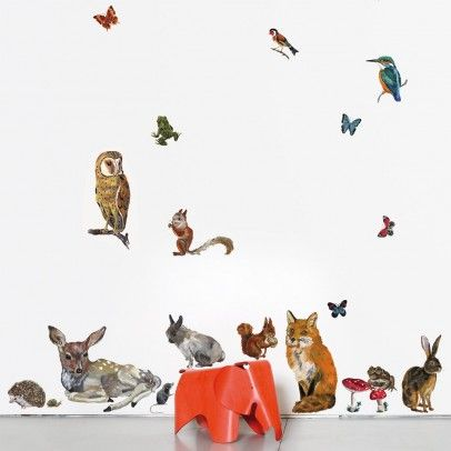 Animal wall stickers by Natalie Lete