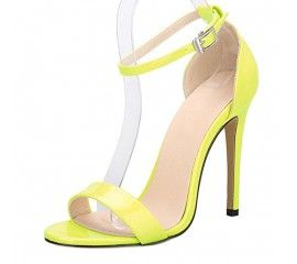 Onlymaker Women`s Fashion Ankle Strap Heeled Sandals Strappy Stiletto Pumps for Wedding Party