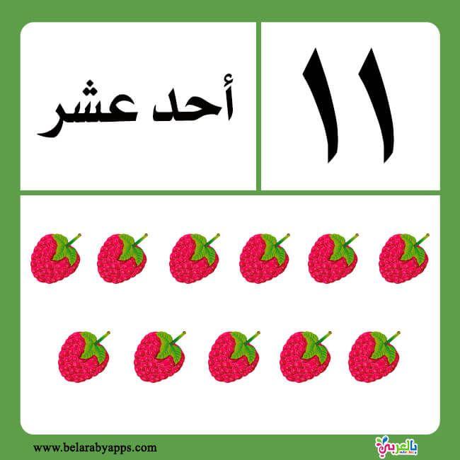 تعليم الارقام العربية للاطفال بطاقات الارقام بالحروف جاهزة للطباعة بالعربي نتعلم Arabic Alphabet For Kids Arabic Kids Preschool Math Worksheets