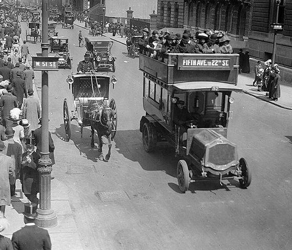 Fifth Avenue Bus, New York City 1918