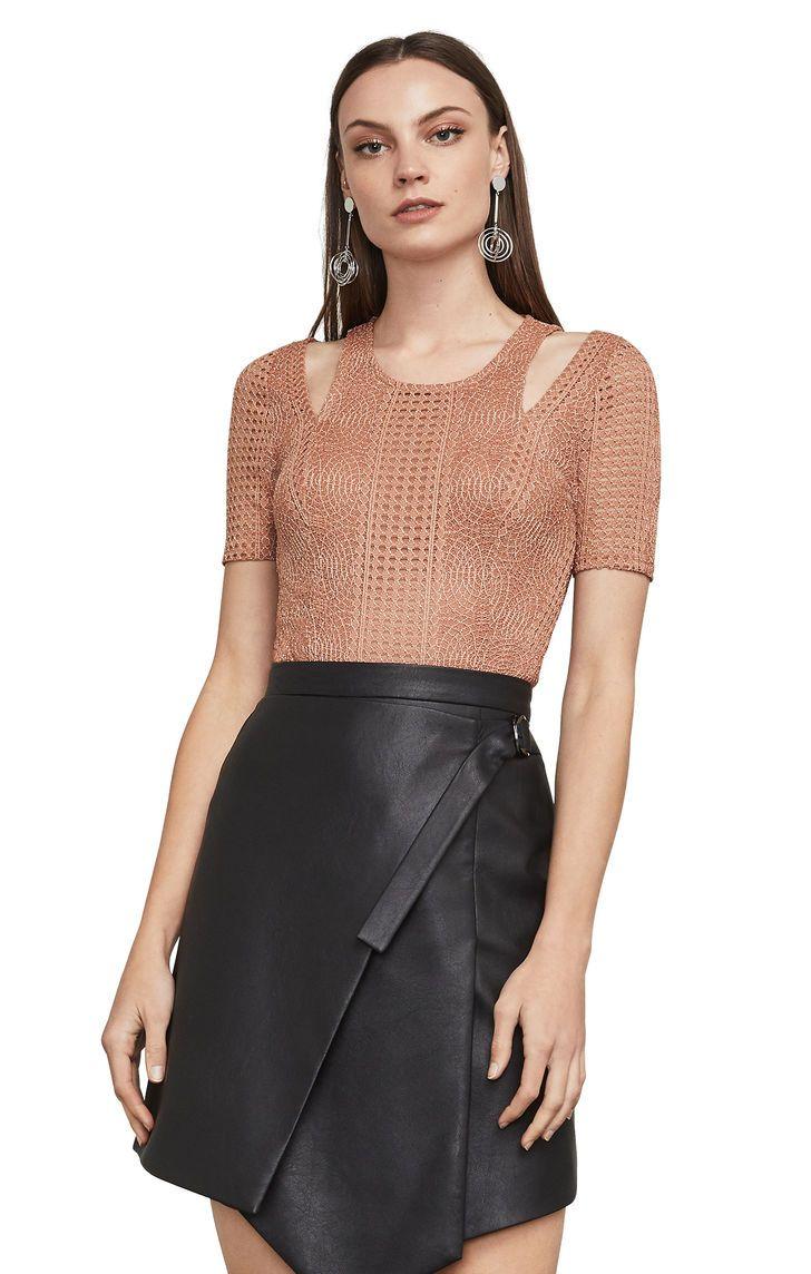 Lace bodysuit shirt  BCBGMAXAZRIA Gwenyth Cutout Lace Bodysuit  My Style  Pinterest