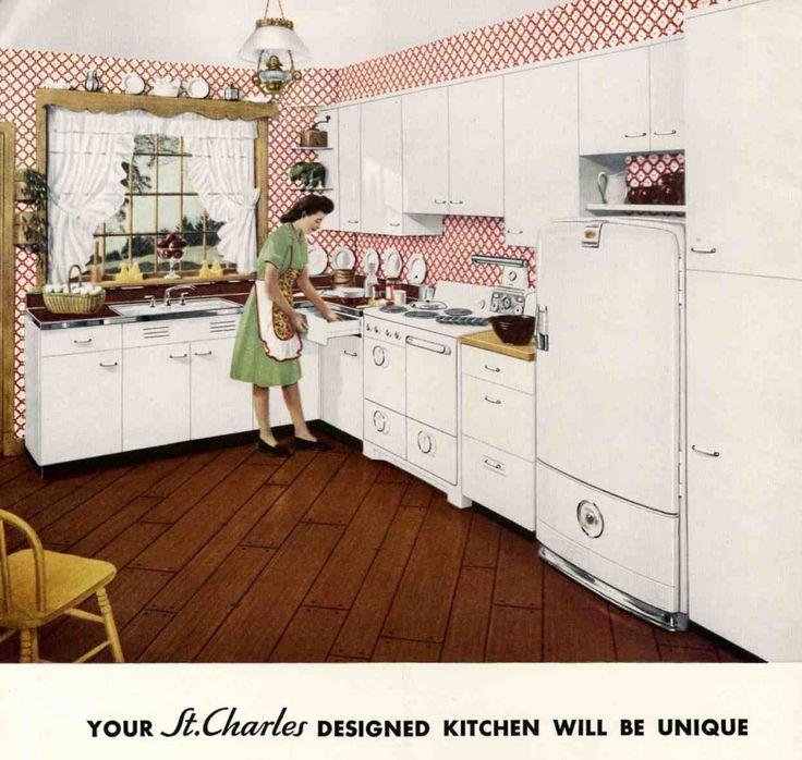 25 best vintage 50's metal kitchen cabinets images on pinterest