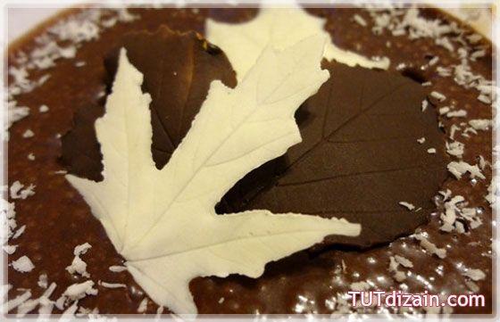 Листики из шоколада для украшения десертов » Планета рукоделия