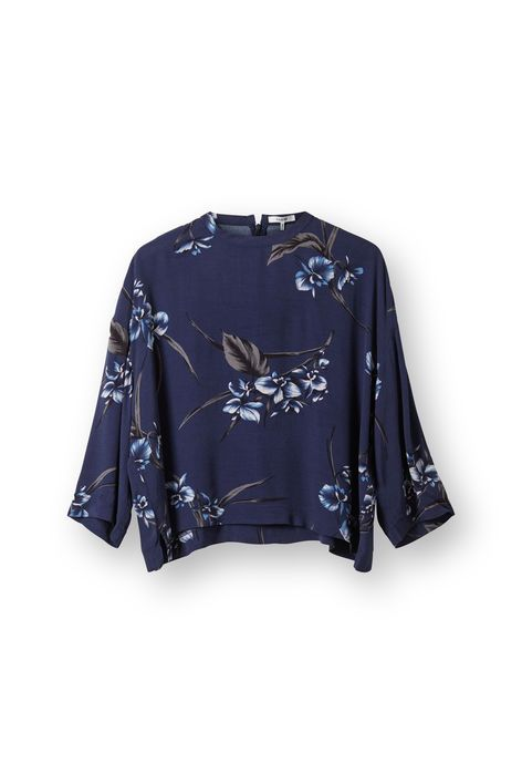 Akina Crepe Blouse, Iris Orchid