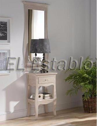 mesita vintage en pino _ muebles