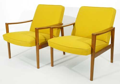 Danish teak lounge chairs  These chairs from the early 60's are so cool and decorating for the home