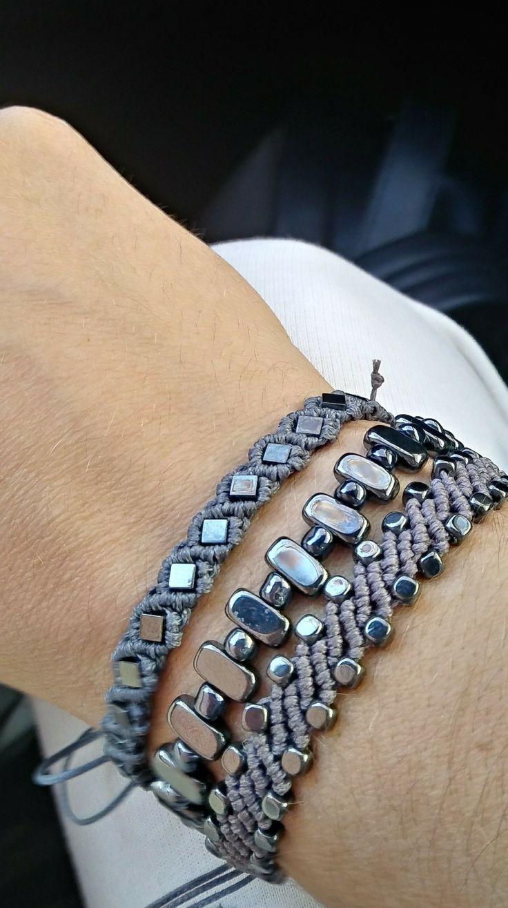 Bracelet# makrame aimatitis