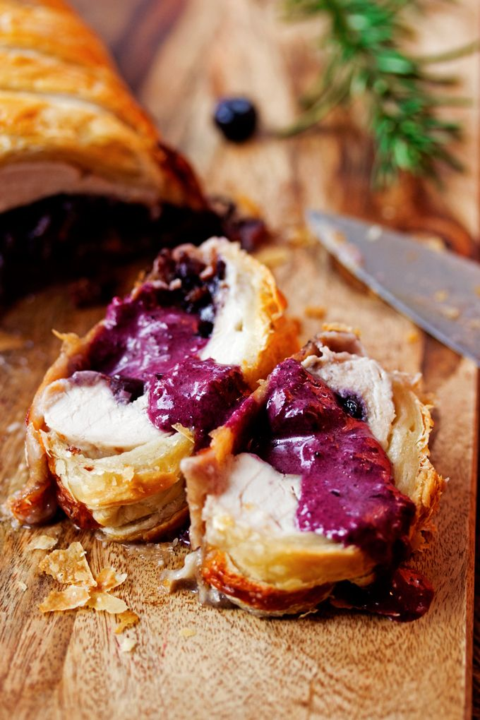 Cooks with Cocktails | Blueberry and Brie Stuffed Turkey Wellington | http://cookswithcocktails.com