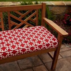 @Overstock - This red bench cushion will add style, dimension and color to your patio, deck, garden or lanai. This cushion features stain, fade and mildew resistant fabric trimmed with matching cording and ties to secure the cushion to the furniture.http://www.overstock.com/Home-Garden/Penelope-Red-48-inch-Outdoor-Bench-Cushion/6694602/product.html?CID=214117 $70.19