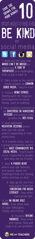 10 Smart Ways to Teach Kids to Be Kind Online #weareteachers
