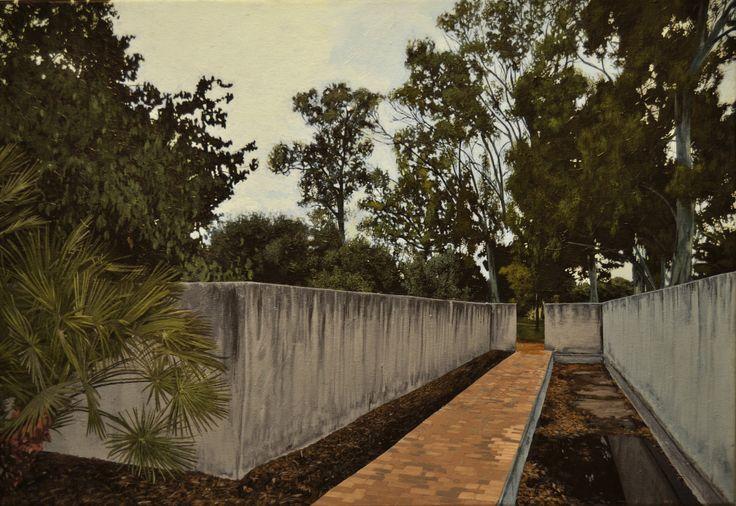 Parque del Altillo, acrílico sobre lienzo 38x55