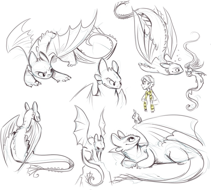 how to train your dragon drawing toothless
