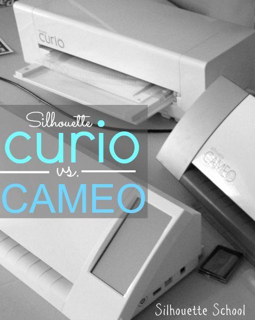 Silhouette Curio vs CAMEO (or Portrait) ~ Silhouette School