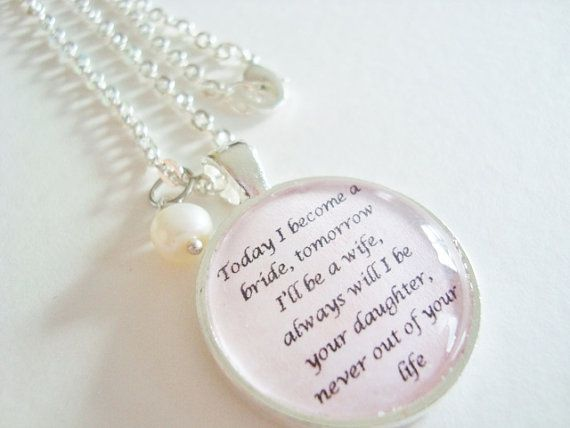 ... Brides, Pendants Quotes, Mothers Daughters Wedding Gift, Mothers Gift