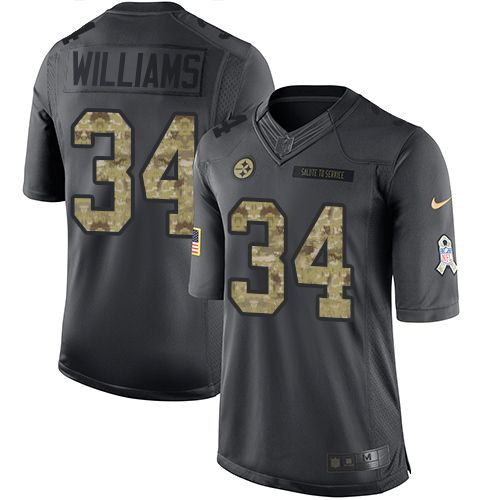 Nike Steelers #34 DeAngelo Williams Black Men's Stitched NFL Limited 2016 Salute to Service Jersey