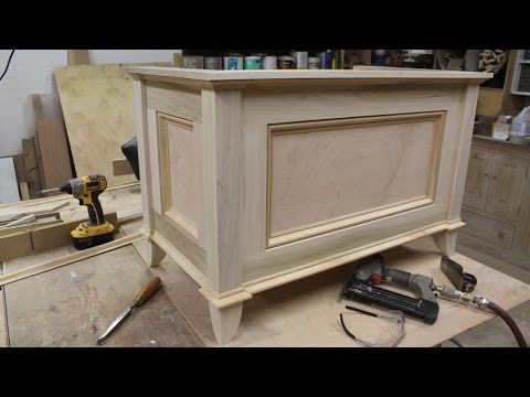 Make a blanket chest / Toy chest by Jon Peters  This site has a lot of videos showing how to make furniture.