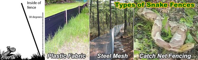 Landscaping  Certain types of landscaping may be appealing to snakes. Avoid using damp mulch or large stones; try smaller pebble or river-rock instead. Excessive watering of your lawn or garden may also attract prey items (worms, slugs, or frogs) that some species of snake feed on.  Snake fences should be flush to the ground and should extend outward at an angle to prevent snakes from climbing over. -- http://www.snake-removal.com/howtokeepaway.html