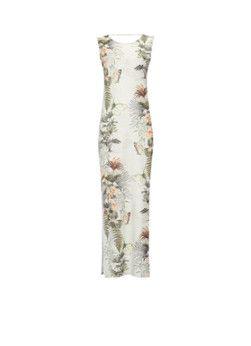 Warehouse Jersey midi-jurk met tropische print