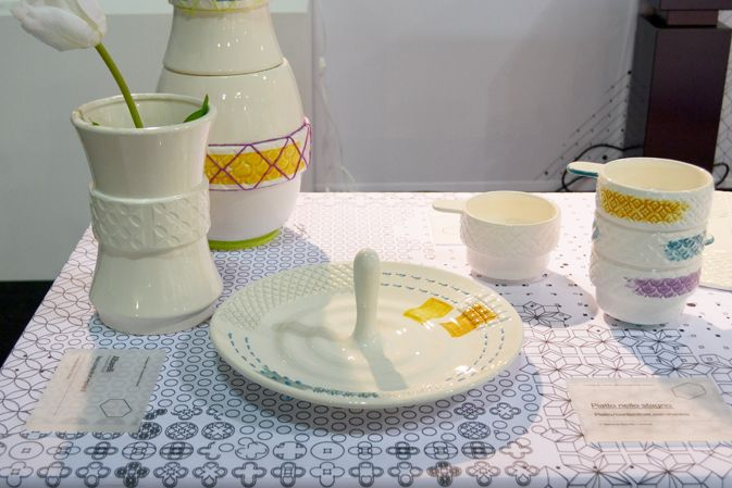 """Among the best Umbrian companies, 21 have participated to the project carried out by the Umbria district """"La Ceramica Made in Umbria"""". The main purpose of this initiative was to put into a new light the artistic majolica, by transforming it from traditional to contemporary. Elisabetta Furin is a designer who projected all the pieces of the collection. Her source of inspiration has been the typical object that respected the traditional custom and the local architectural details."""