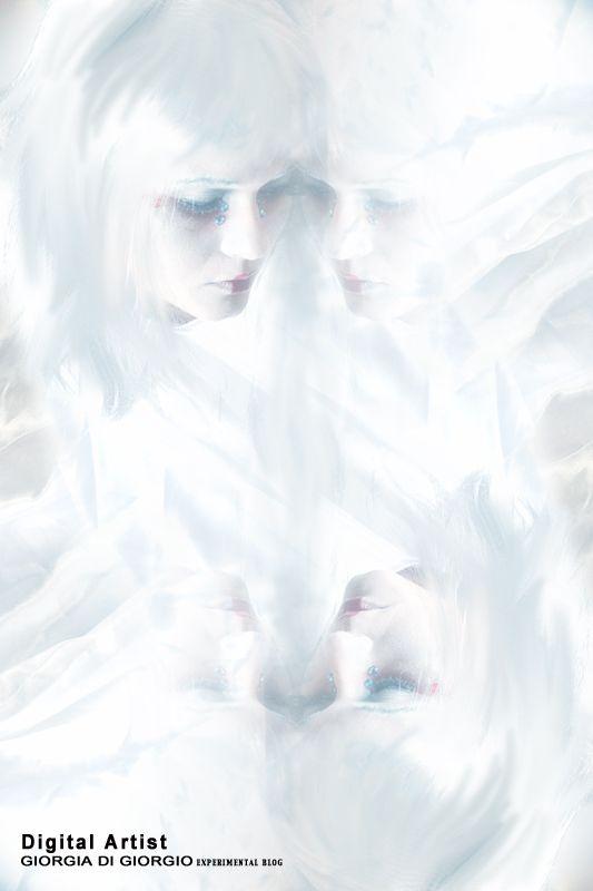 """Remember Me, My Ghost - Digital Art by Giorgia Di Giorgio concept make up - Photo, Edit by Giorgia Di Giorgio Gallery(page) http://makeupartistgiorgia.blogspot.it/  """"Ho visto il passato attraverso il mio candore, e adesso che sono candida d'amore, amerò e fonderò il mio velo al tuo."""""""