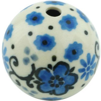 Polish Pottery 1-inch Bead | Boleslawiec Stoneware | Polmedia H5624H | Polmedia