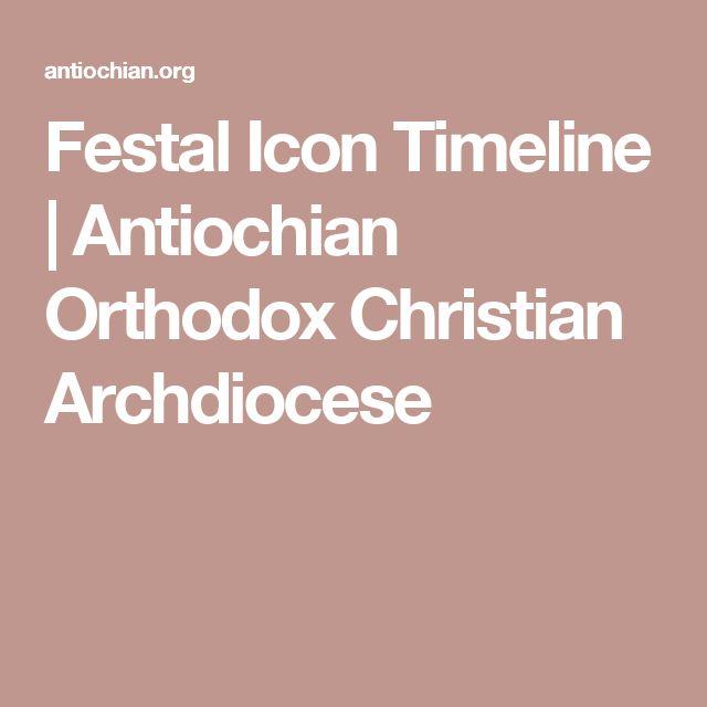 Festal Icon Timeline   Antiochian Orthodox Christian Archdiocese