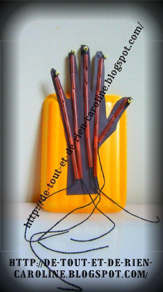 De tout et de rien: Activités pour le Préscolaire: DIY articulated hand model - Modèle articulé de la main