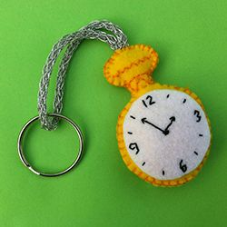 Mad Hatter Tea Party Ideas Mad Hatter Felt Keyring Patterns,  White Rabbit's Watch Alice in wonderland