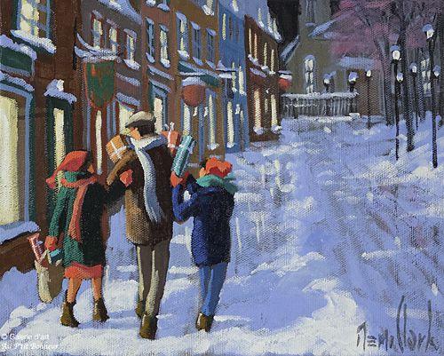 Rémi Clark, 'Une soirée de décembre', 8'' x 10'' | Galerie d'art - Au P'tit Bonheur - Art Gallery