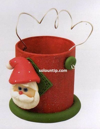 Christmas Crafts in cold porcelainChristmas Time, Christmas Crafts, Xmas, Clay Santa, Christmas Winte, Old Tins, Christmas Clay, Christmas Ideas, Clay Art